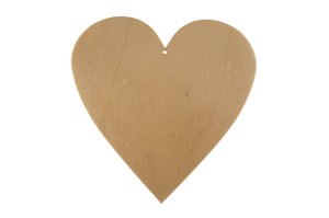 Wooden decoration Heart 20x20  10pcs