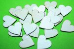 Small wooden hearts 8 x 8 Decoupage