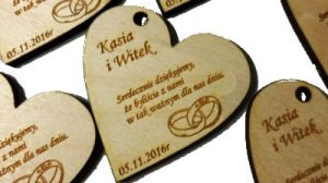 Personalized engraved wooden heart