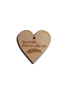 Engraved wooden heart