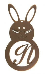 Easter Rabbit Letter N
