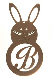 Easter Rabbit Letter B