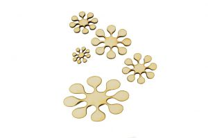 Scrap, Flowers 1  set of 4pcs