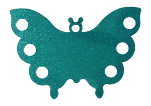 Hanger with your engrave Butterfly Blue